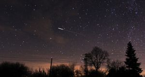 The Gemenids, the meteor shower which will cross Ireland this week, over Bulgaria in 2015. Photograph: NurPhoto/Getty Images