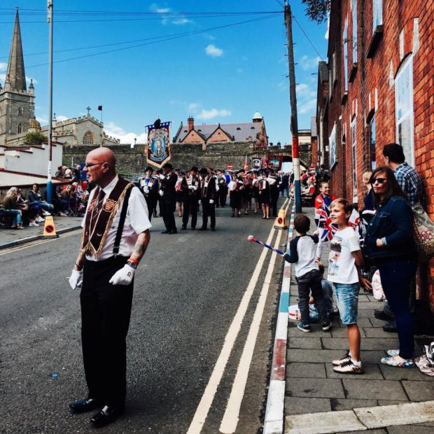 Ulster cycle: an Apprentice Boys parade in Derry in 2017