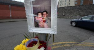 The scene outside Noctor's pub on Sheriff Street where Martin O'Rourke (pictured) was shot. Photograph: Cyril Byrne