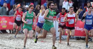 Ireland's Mick Clohisey running the European Cross Country in  Tilburg, the Netherlands. Photograph: Bryan Keane/Inpho