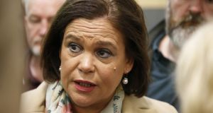 Sinn Féin leader Mary Lou McDonald said Varadkar and Martin  could have spared 'the pretence of a critical tension between Tweedledum and Tweedledee'. File photograph: Nick Bradshaw