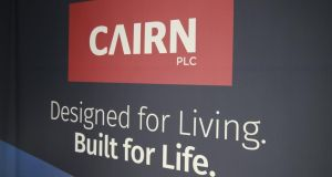 Cairn Homes fell 2.2 per cent on the Iseq to €1.18.