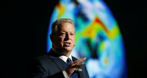 Former US vice president Al Gore criticised  the three big oil and gas producing countries including the US as they were 'at least temporality unwilling to contribute to the progress we need in policy'.  Photograph: Agencja Gazeta/Grzegorz Celejewski/via Reuters