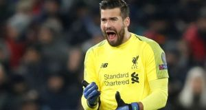 Klopp jokingly claimed he would have paid double for Alisson, above, had he realised he was so good. Photograph: Action Images via Reuters/Carl Recine