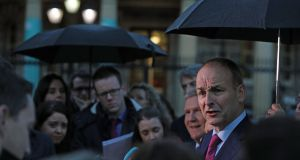 Fianna Fáil leader Micheál Martin: Brexit made him do it.  Photograph: Brian Lawless/PA Wire