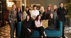 The #wearingIrish winners of Margaret Molloy's ambitious project who travelled to New York.