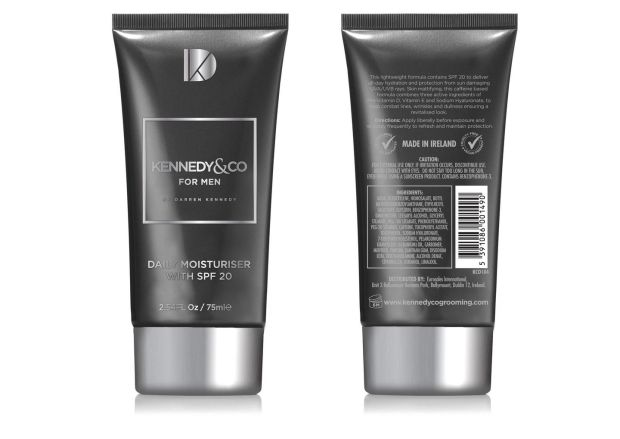 Kennedy & Co For Men Daily Moisturiser with SPF20 (€12.95) is a high-quality, affordable skincare option for men