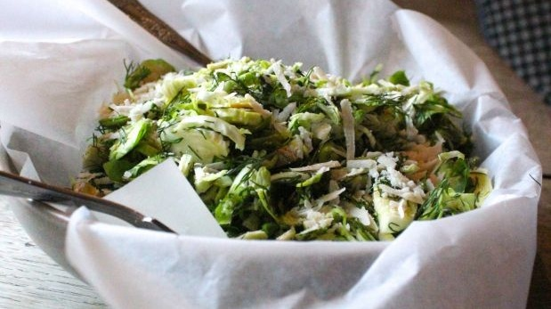 Jess Murphy's shaved Brussels sprout salad.