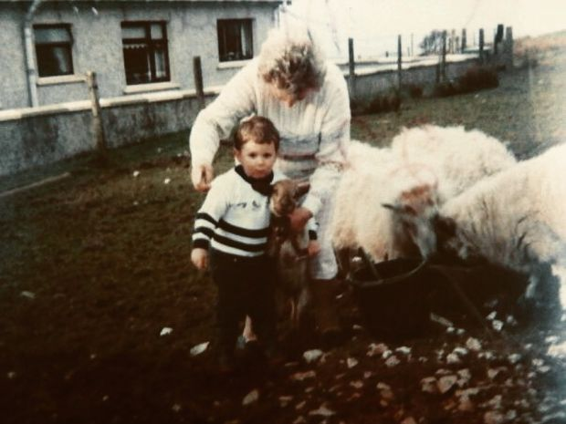 Ulster cycle: Anton Thompson-McCormick as child with his grandmother in Northern Ireland
