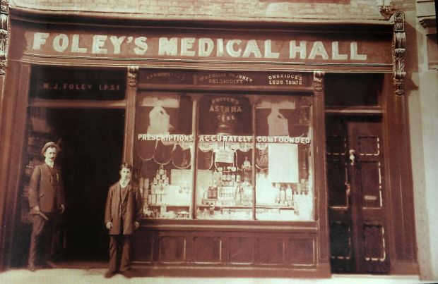 Parnell Street: the original Foley's Medical Hall. Courtesy of family collection