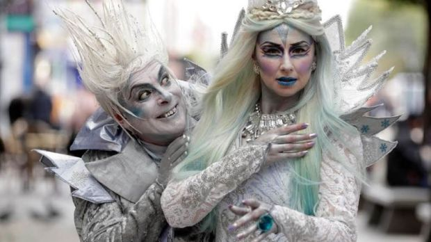 Actors from The Snow Queen pantomime at The Gaiety. Oh yes, they are.
