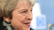 Britain's prime minister Theresa May in Brussels: Sane centrist voices in Westminster should focus on getting parliamentary majority for withdrawing the article 50 letter of application. Photograph: John Thys