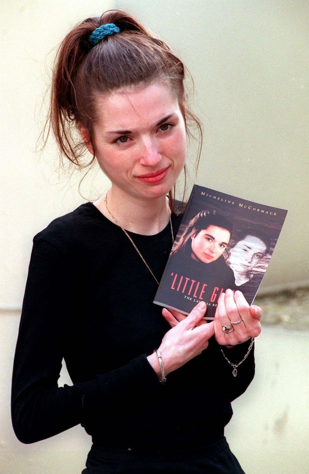 Lavinia at the 1997 book launch of 'Little Girl: The Lavinia Kerwick Story', by Micheline McCormack, when she was suffering from anorexia nervosa