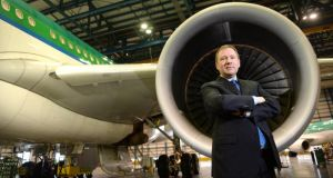 Stephen Kavanagh, who is to step down as  Aer Lingus  chief executive at the end of the month. Photograph: Dara Mac Dónaill