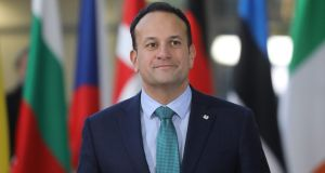 Taoiseach Leo Varadkar arrives for a European Summit  in Brussels, Belgium. Photograph: Ludovic Marin/AFP/Getty Images