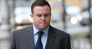 Garda Warren Farrell: pleaded not guilty. Photograph: Collins Courts