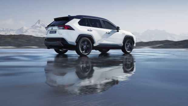 Toyota Rav4 SUV: sharp styling touches taken from smaller C-HR while also featuring the latest hybrid powertrain