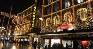 Christmas lights in Henry Street, Dublin: Tax receipts estimated by EY to rise by 4.2 per cent next year, buoyed by a strong labour market and a rise in consumer spending.
