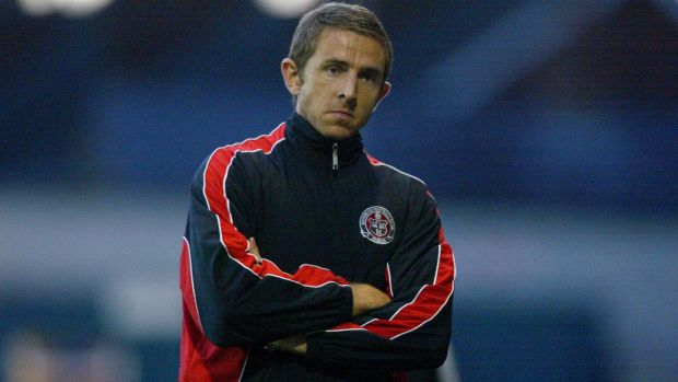 Gareth Farrelly during his spell as Bohemians player-manager in 2006. Photograph: Dan Sheridan/Inpho