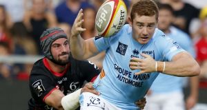 Paddy Jackson: will feature in the Perpignan side at home to Connacht. Photograph:  Raymond Roig/AFP/Getty