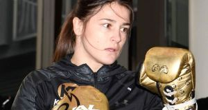 Katie Taylor  participates in media workouts at Madison Square Garden  in New York on Thursday ahead of her fights against Eva Wahlstrom on Saturday. Photograph: Sarah Stier/Getty Images