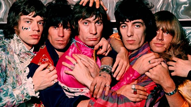 The Rolling Stones in 1968. From left, Mick Jagger, Keith Richards, Charlie Watts, Bill Wyman and Brian Jones. Photograph: Camera PRes/JBA