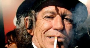 Rolling Stone: Guitrist Keith Richards says he has cut back on drinking. Photograph:  EPA/Peter Foley