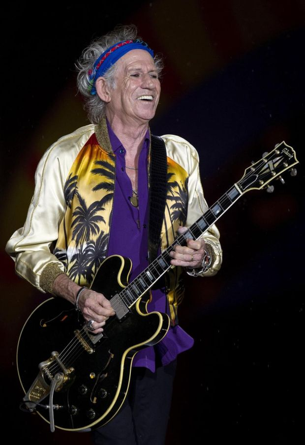 Keith Richards performing with the Rolling Stones in 2016. Photograph: EPA/Sebastiao Moreira