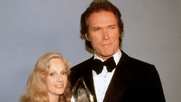 Sondra Locke poses with her then boyfriend Clint Eastwood on March 5th, 1981 with his People's Choice Award for favourite motion picture actor in Los Angeles. File photograph: AP