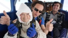 102-year-old granny skydives for charity