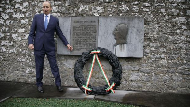 Micheál Martin at the Annual Fianna Fáil Wolfe Tone Commemoration in October in Bodenstown, Co Kildare. Photograph: Nick Bradshaw