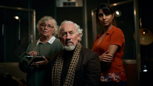 Susan Penhaligon, Simon Callow and Anjli Mohindra in The Dead Room, BBC4