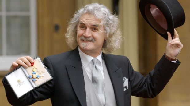 Glasgow's favourite son, Billy Connolly, with his CBE, which he received from Prince Charles in December 2003. Photograph: Fiona Hanson/Reuters