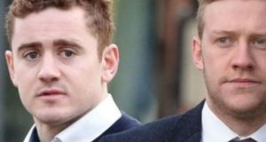 A composite image featuring Paddy Jackson and Stuart Olding, who were acquitted of rape.