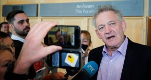 Presidential candidate Peter Casey sharply criticised what he described as a complete lack of detail in the review. Photograph: Nick Bradshaw/The Irish Times