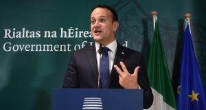 "Leo  Varadkar stressed the EU's wish to help Mrs May, but added: ""That is contingent on her understanding that there are limitations."" Photogaph:  John Thys / AFP/Getty Images"