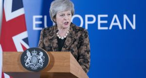 "Theresa May: ""We will be working expeditiously over the coming days to seek those further assurances that I believe MPs will need."" Photographer: Jasper Juinen/Bloomberg"
