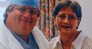 Darlene Coker is shown with her thoracic surgeon David Sugarbaker