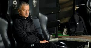 Manchester United's  José Mourinho: he is  favourite to be the next Premier League manager sacked.  Photograph:  Reuters/Heino Kalis