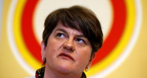 DUP leader Arlene Foster attends the launch of A Better Deal in London, Britain. Photograph: Henry Nicholls/Reuters