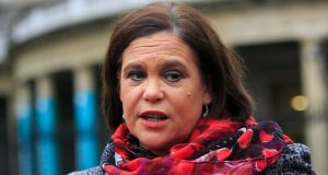 Sinn Féin president Mary Lou McDonald was the guest speaker at a fundraising dinner in New York in November. Photograph: Gareth Chaney Collins