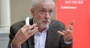UK Labour leader Jeremy Corbyn: A political vacuum opened up post-referendum and the people were ready.   How sad that political leadership was lacking.  Photograph: Mark Runnacles/Getty