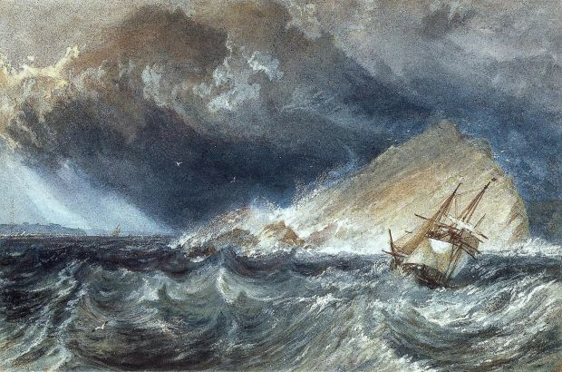 JMW Turner: A Ship against the Mewstone, at the Entrance to Plymouth Sound. Photograph courtesy National Gallery of Ireland