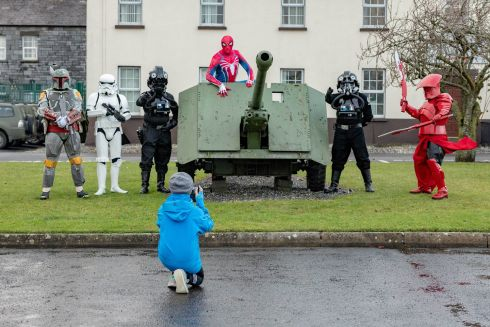 YULEFEST KILKENNY: Members of the The 501St Legion Ireland Garrison 'Star Wars' costuming club at the Christmas family day at James Stephens Army Barracks in Kilkenny as part of Yulefest Kilkenny. Photograph: Dylan Vaughan