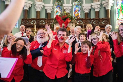 THE SOUND OF CHRISTMAS: Cor Na Li Choir with special guests Cork Deaf Association Community Choir performing 'Silent Night' at their Christmas concert at Nano Nagle Place, Cork city. Photograph: Clare Keogh