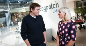 Upgrading and expanding:  Patrick Walsh, managing director of  Dogpatch Labs, and Jane Howard, chief executive of  Ulster Bank. Photograph: Shane O'Neill
