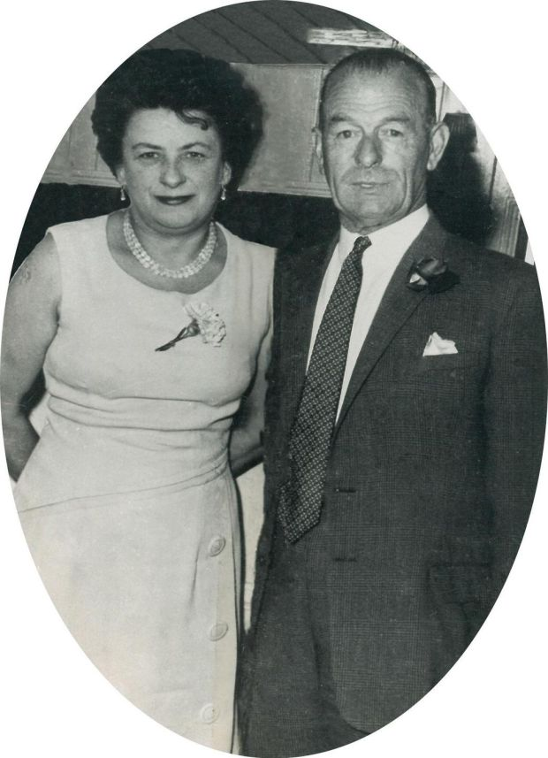 Stalag XXA: Tom McGrath, who escaped from the German prisoner-of-war camp in 1942, with his wife, Elizabeth Vaughan. Photograph courtesy family collection