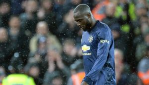 Manchester United's Romelu Lukaku struggled to have any impact on the game at Anfield. Photograph: PA