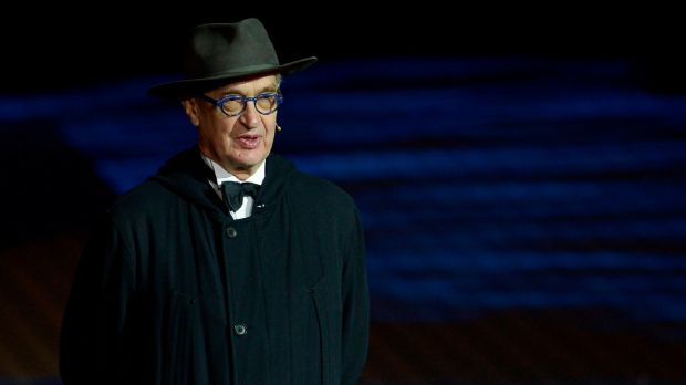German director Wim Wenders presenting the EFA Lifetime Achievement Award Photograph: Cristina Quicler/AFP/Getty Images