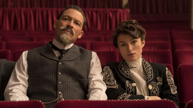 Dominic West and Keira Knightley in 'Colette'. Photograph: Robert Viglasky / Bleecker Street